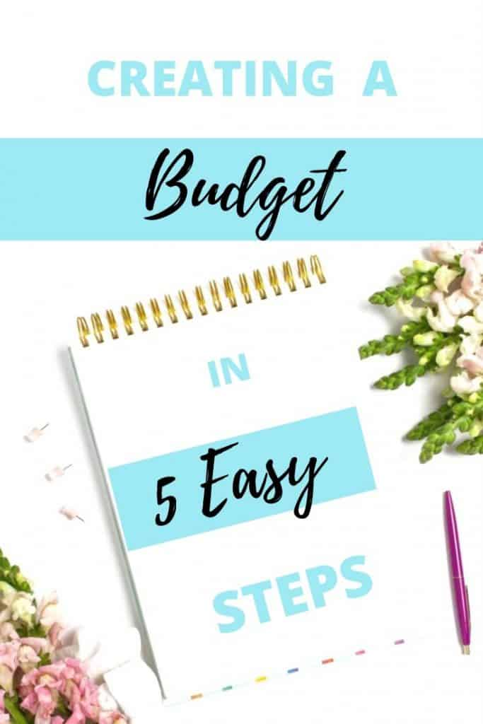 Creating a Budget in 5 Easy Steps.  Everything you need to know to create a simple and effective budget. #budget #easy #handfulofthoughts