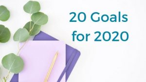 Looking for some life goals? This list includes life goals, personal goals, money goals and everything in between. If you are wanting to set a new and unique goal this list of 20 goals for 2020 has you covered. #handfulofthoughts #goalideas #goallist #lifegoals