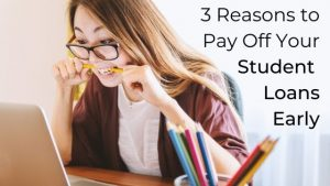 3 reasons to pay off your student loans early. Learn everything you need to know about student loans including why you should consider paying off your student loans early. #studentloans #savemoney #handfulofthoughts