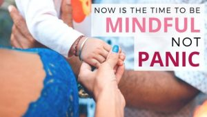 Now is the time to be mindful, not panic. Every day now feels like a year. It is so easy to want to slip into panic, fear, and anxiety. But being mindful helps to overcome this. #handfulofthoughts #mindfulness #mindful #mindfulmoneyweek