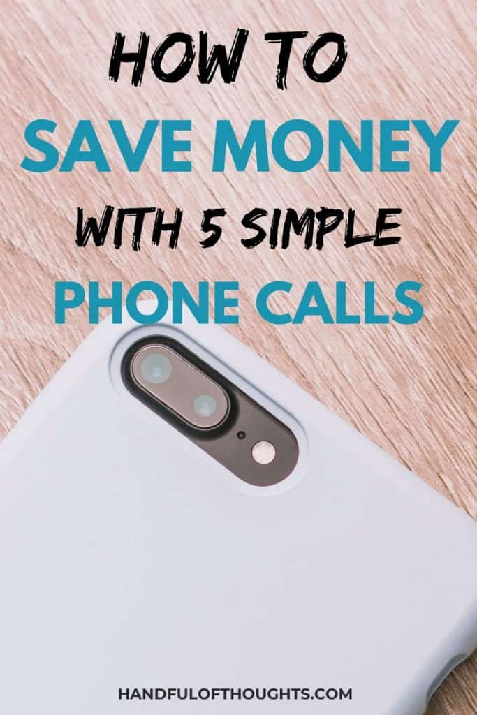 Save money with a phone call