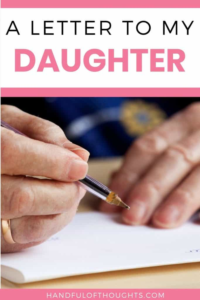 A letter to my daughter of all the values I hope to instill in her.