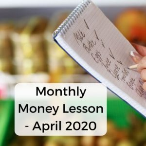 Monthly money mistake - April 2020 - Shopping with a list