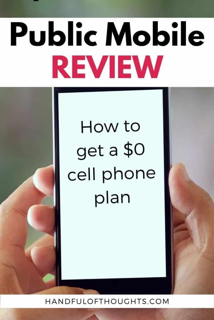 Public Mobile Review - Pinterest Pin