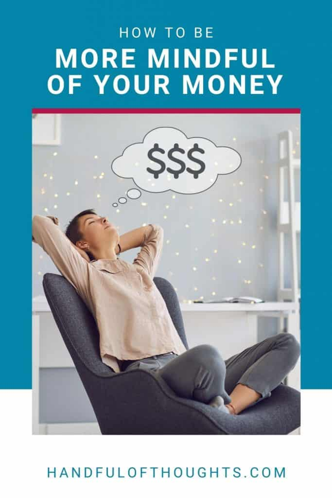 How to be more mindful of your money - Pinterest pin.